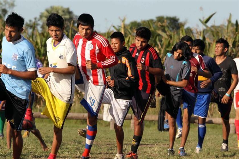 El objetivo de esta iniciativa es fomentar el contacto y la unión entre los distintos pueblos originarios del país a través del deporte, según señaló la dirección de Cultura de la Cámara de Diputados de Paraguay. EFE/Archivo