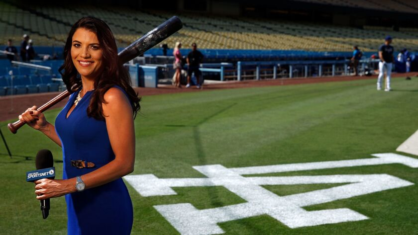 LOS ANGELES, CA-SEPTEMBER 8, 2017: Los Angeles Dodgers broadcaster Alanna Rizzo is photographed at