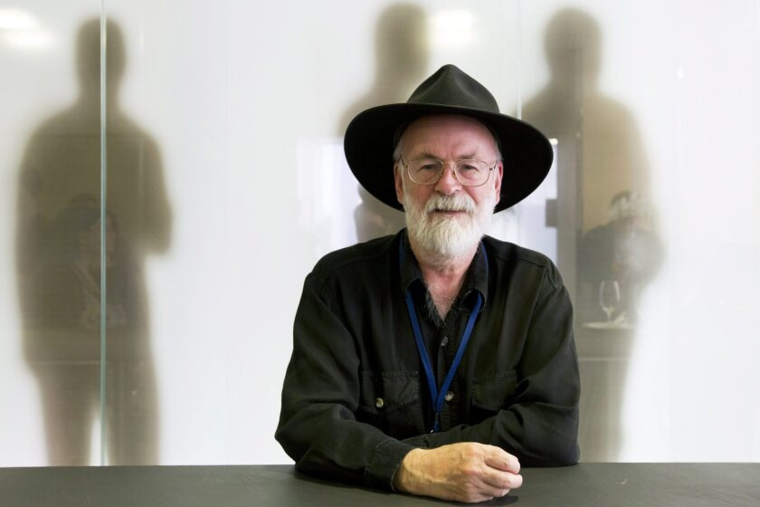 Terry Pratchett poses for a photo on June 15, 2012, during a meeting of the World Federation of the Right-to-Die Societies in Zurich, Switzerland.