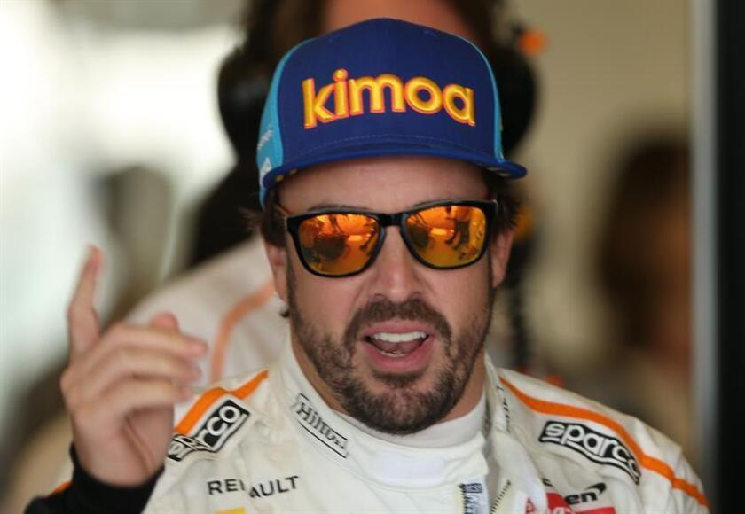 El piloto español Fernando Alonso, del equipo McLaren. EFE/EPA