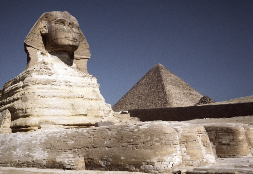 Mythological chimeras such as the half-man, half-lion sphinx are fearsome creatures, but in real life, scientists have made human/nonhuman chimeras for decades to help millions of people. Above, the Great Sphinx in Egypt.
