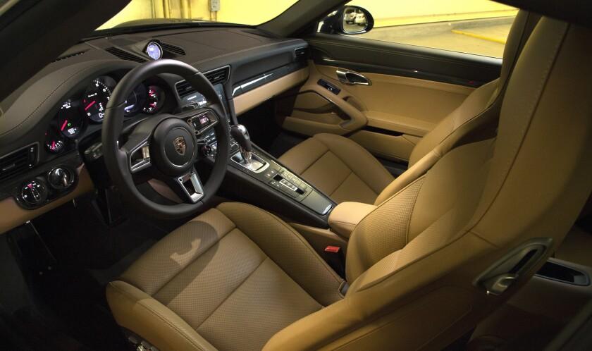 The interior of the 911 Turbo S is wraparound luxury.