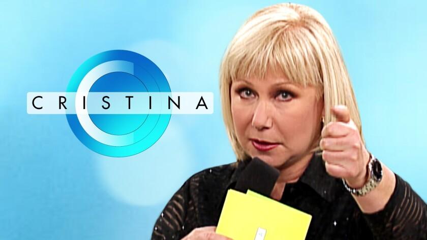 La presentadora de la televisión hispana Cristina Saralegui