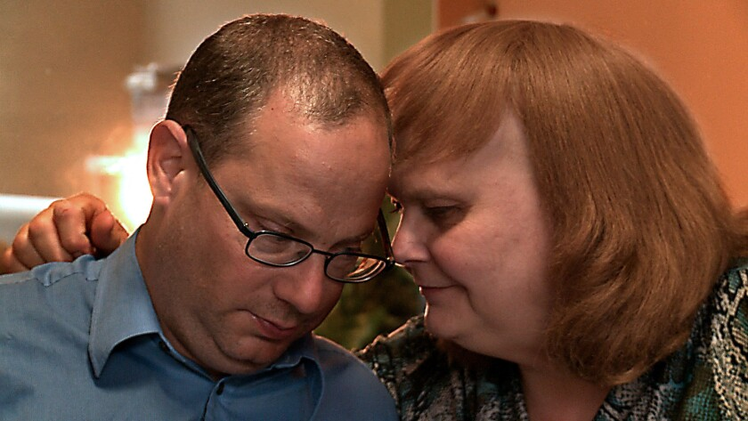 """John Gelmon and Martine Stonehouse in the documentary """"Transfixed."""""""