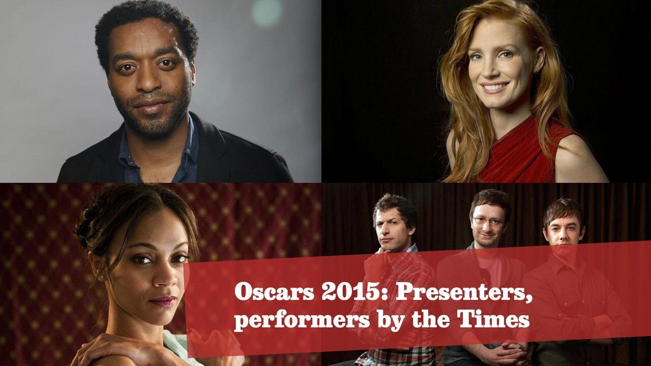 Oscars 2015: Presenters and performers, by The Times