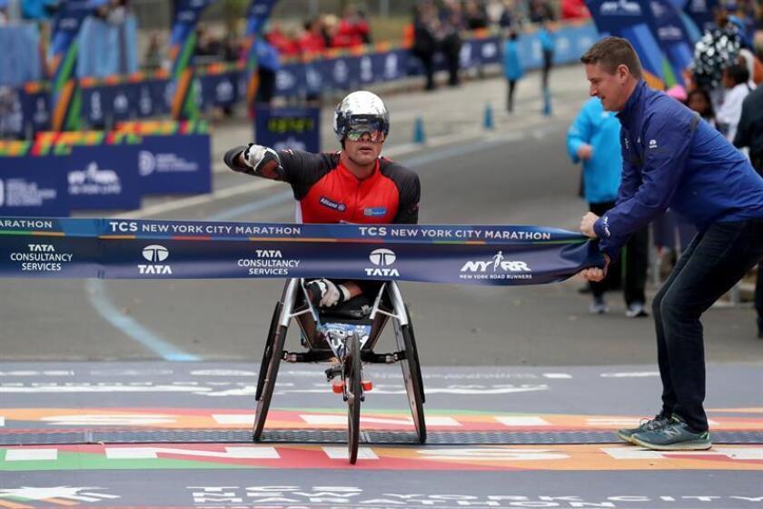 El suizo Marcel Hug gana la maratón de Nueva York en la categoría de silla de ruedas
