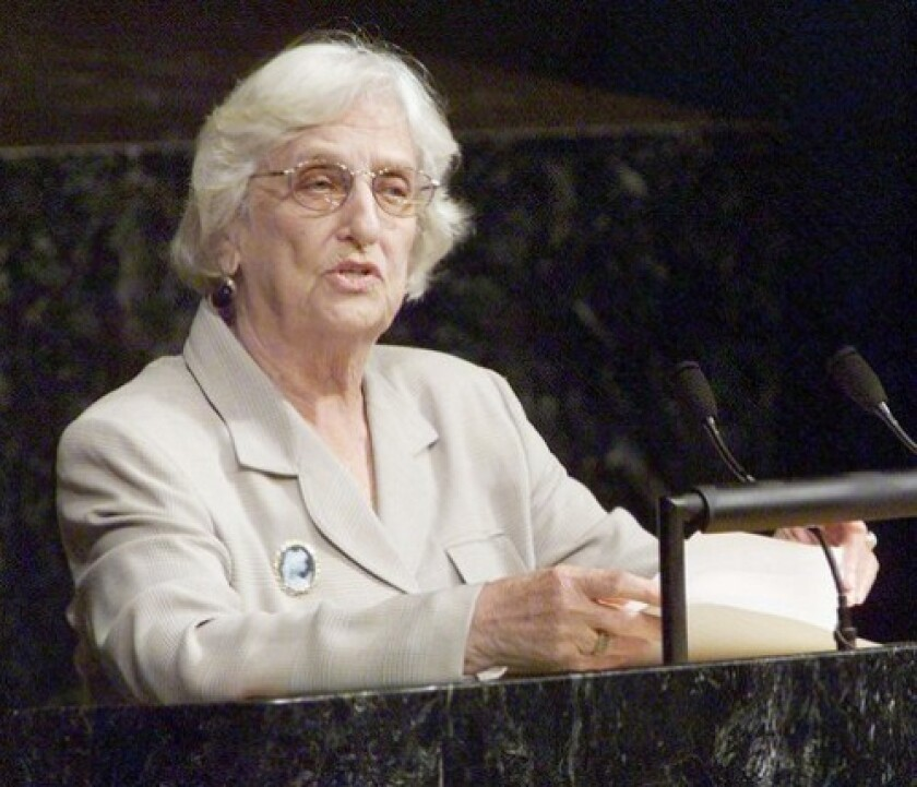 """Time magazine called Janet Jagan """"the most controversial woman in South American politics since Eva Peron."""" She succeeded her husband as Guyana's president in 1997."""