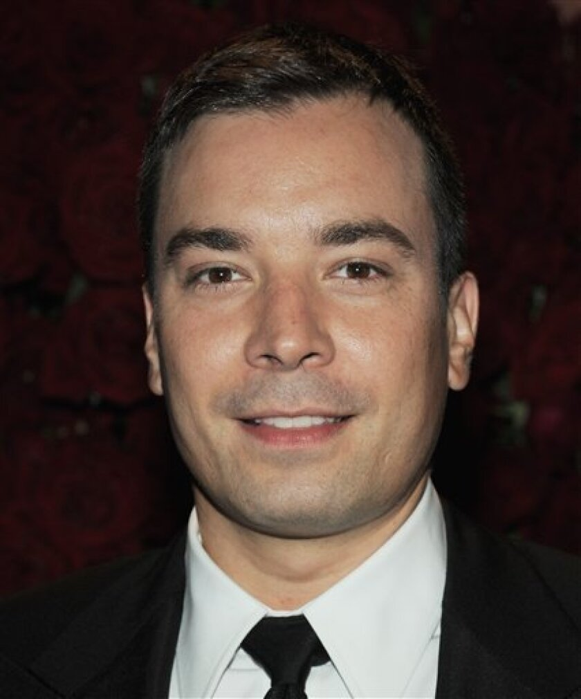 """In this Sept. 16, 2008 file photo, Jimmy Fallon attends the New Yorkers For Children annual gala at Cipriani's 42nd Street in New York.  Fallon is expected to take over """"Late Night"""" in March, 2009. (AP Photo/Evan Agostini, file)"""