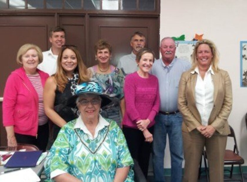 La Jolla Rec Council members are: Secretary Patricia Miler, Brian and Lizzet Cluster, Jan Harris, Robert Aschenbrenner, Vice-President Carolyn Parrish, President Douglas Fitzgerald and Cindy Greatrex. At front is Esther Viti. Not pictured are Treasurer Hobe Schroeder and members Mary Coakley-Munk a