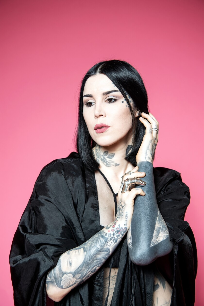 """Tattoo artist Kat Von D rose to fame on the reality shows """"Miami Ink"""" and her spinoff """"L.A. Ink."""""""