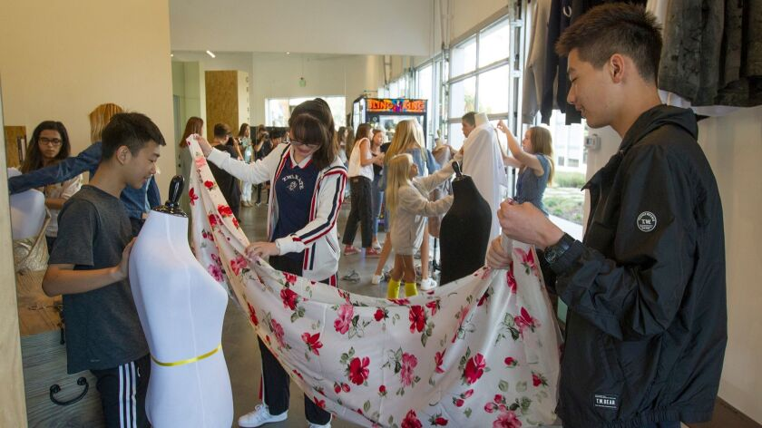 At Designer Camp S First O C Session Students Get A Taste Of Fashion 101 Los Angeles Times