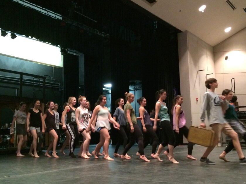 """""""Evita"""" rehearsal at CCA. Courtesy photo"""