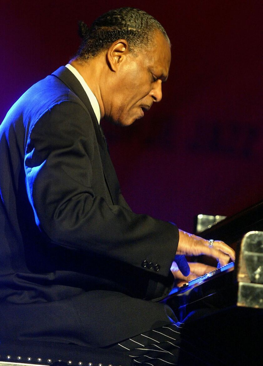 McCoy Tyner playing piano at a jazz festival in Macedonia in 2004.