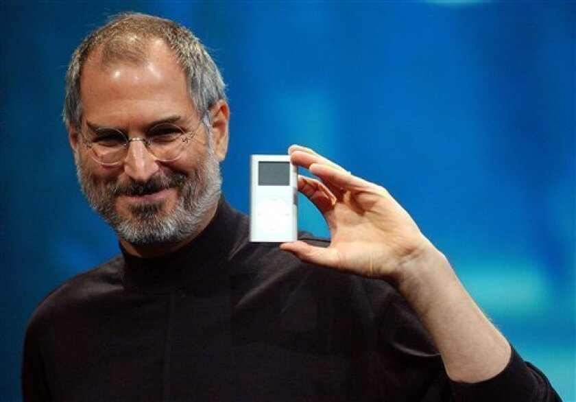 The late Apple CEO Steve Jobs, who was 56 when he died this year, will receive a special Grammy Award in February. (AP Photo/Marcio Jose Sanchez, File)