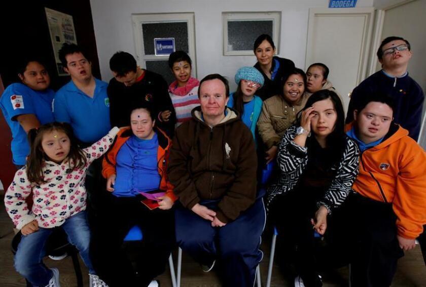 Vista de varios jóvenes con síndrome de down. EFE/Archivo