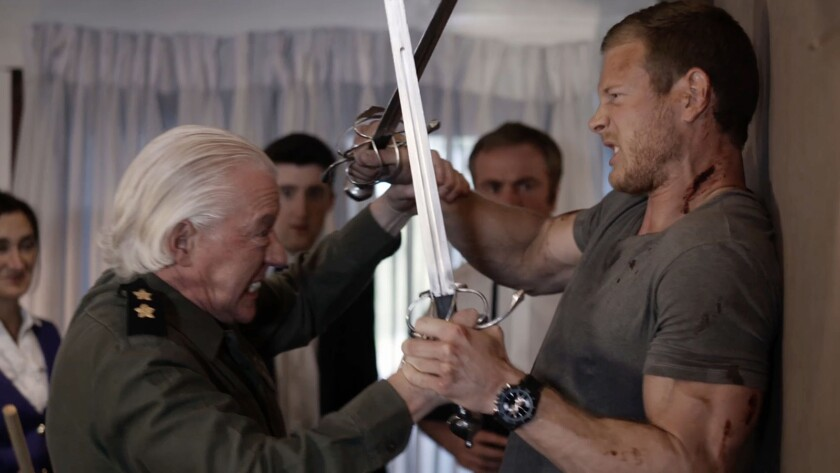 """Nick Dunning, left, and Tom Hopper in the movie """"Kill Ratio."""""""