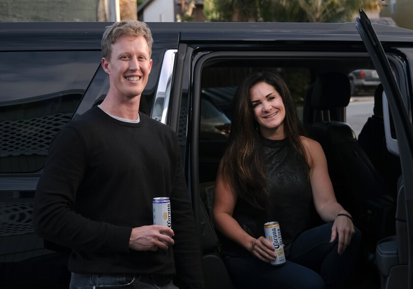 SAN DIEGO, CA-NOVEMBER 13, 2019: Carina and David arrive to their blind date destination at CLAY + CRAFT in Encinitas. (Misael Virgen / PACIFIC Magazine)