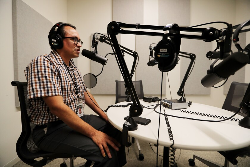 Gustavo Arellano taping podcast The Battle of 187