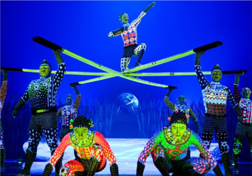 """A scene from the touring production of Cirque du Soleil's """"Totem."""""""