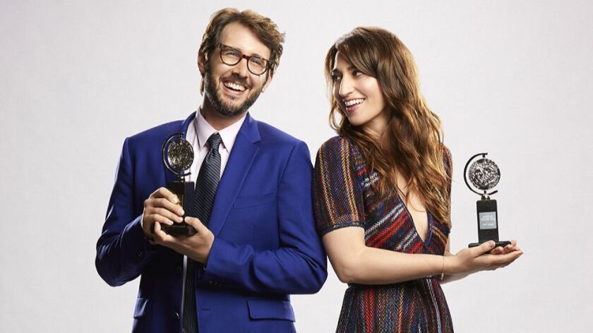 First-time awards-show hosts Josh Groban and Sara Bareilles take the reins of the Tonys on Sunday a year after Kevin Spacey was host.