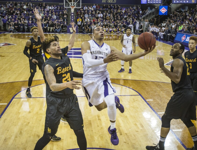 Washington outlasts Long Beach State, 107-102, in first round of the NIT