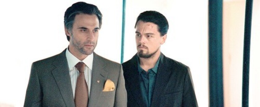 """THRILLER: Mark Strong, left, says working with Leonardo DiCaprio on """"Body of Lies"""" was better than he'd imagined. """"Leo was brilliant,"""" he says."""