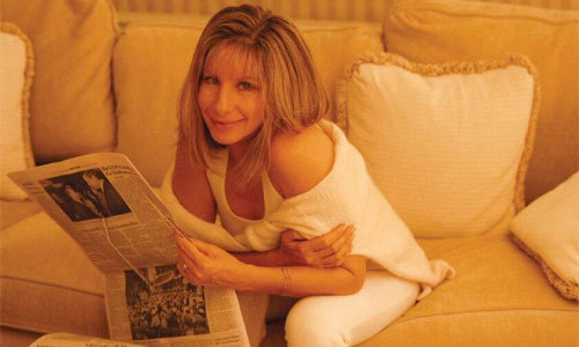 Barbra Streisand during her short-lived beige period.