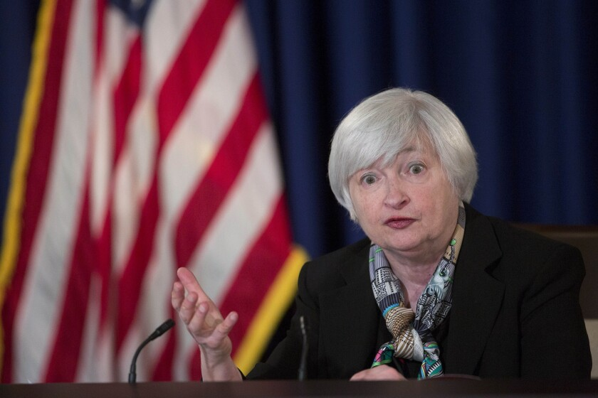 Janet Yellen News Conference Following Federal Open Market Committee Meeting