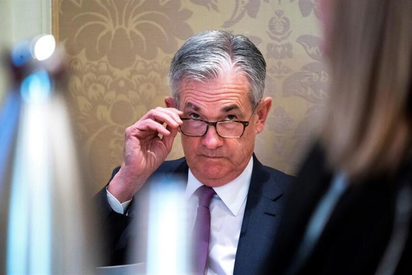 El presidente de la Reserva Federal estadounidense, Jerome Powell. EFE/Archivo