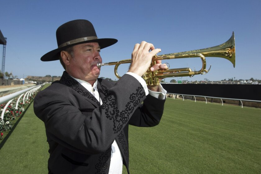 Les Kepics, the official trumpeter for the Del Mar race track, will be back this year, 31 years after he started in 1985.