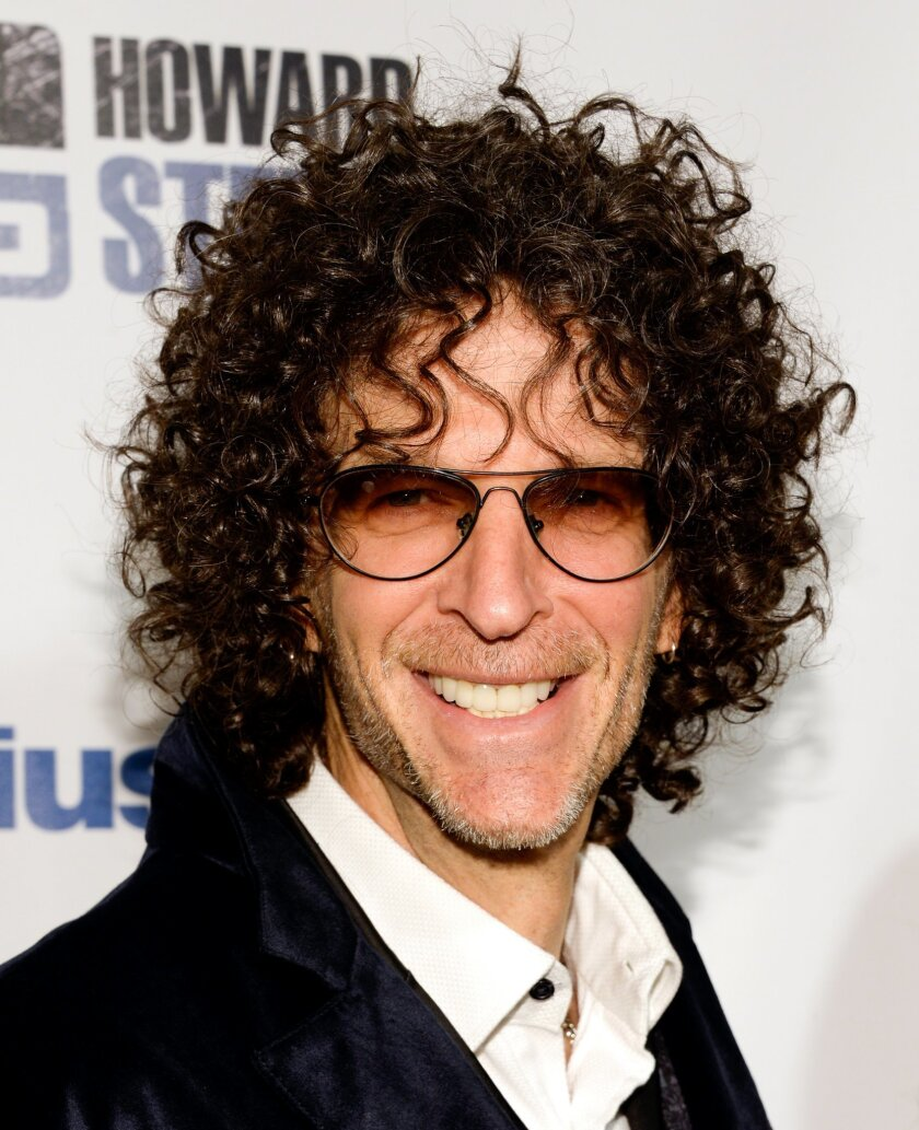 """Satellite radio talk show host Howard Stern arrives at """"Howard Stern's Birthday Bash,"""" presented by SiriusXM, at the Hammerstein Ballroom on Friday, Jan. 31, 2014, in New York.  (Photo by Evan Agostini/Invision/AP)"""
