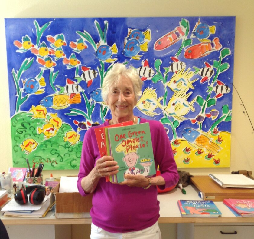 """In three years, writer/illustrator Sally Huss of Solana Beach has written more than 50 books. """"I just keep going,"""" she said. Courtesy photo"""