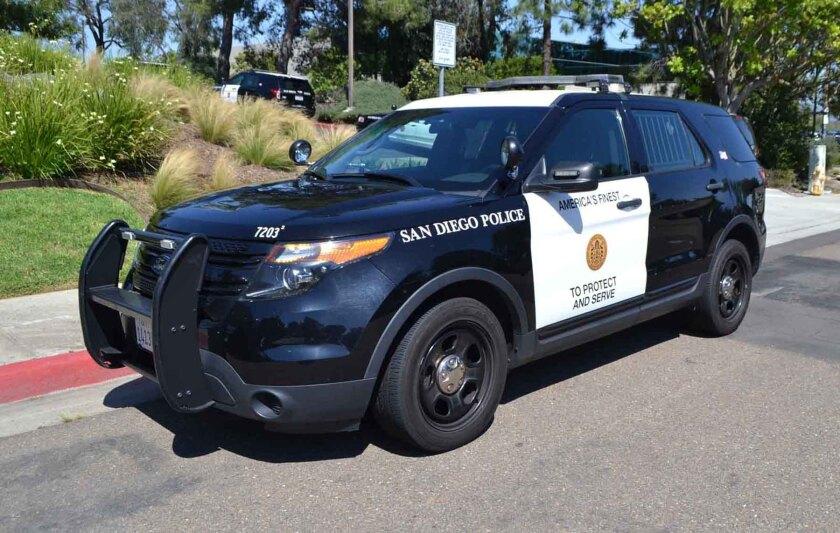 SD police vehicle