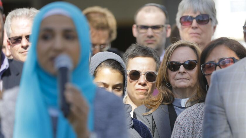 SAN DIEGO, CA 3/15/2019: Interfaith and community organization leaders denouncing hate and the mass