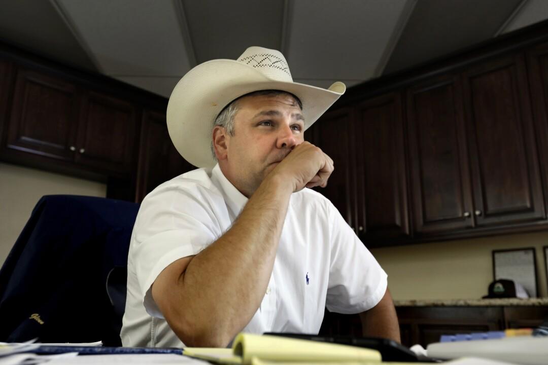 Jason Glenn, co-manager of the Overland Stock Yard