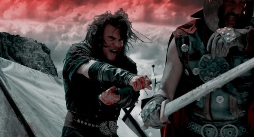 "A scene from the film ""Vikingdom."""