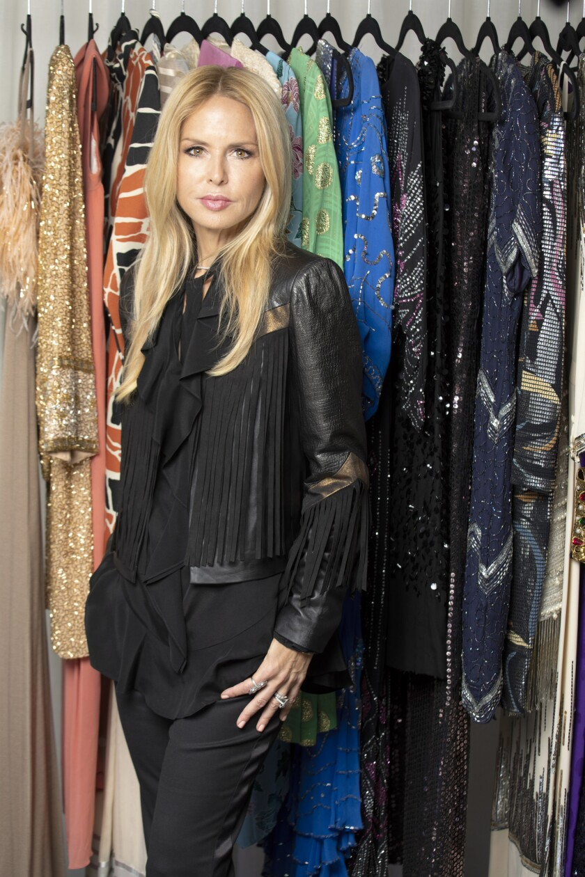 WEST HOLLYWOOD, CA - SEPTEMBER 12, 2018 - Rachel Zoe photographed with her prized vintage pieces at