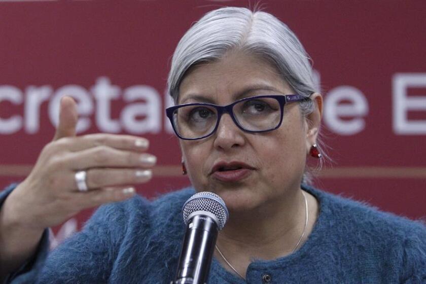 La secretaria de Economía de México, Graciela Márquez, ofrece hoy una rueda de prensa en Ciudad de México (México). Márquez aseguró hoy que en el proceso de ratificación del Tratado comercial entre México, Estados Unidos y Canadá (T-MEC) habrá un poco de ruido y fricción. EFE