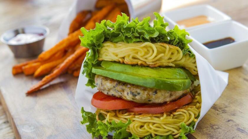 Yes, that hamburger bun is made of ramen. (Courtesy photo)