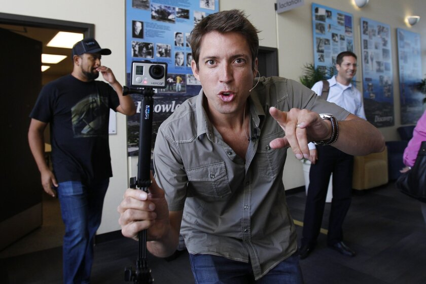 UCSD graduate Nick Woodman founded GoPro in 2004. The San Mateo-based company is relocating its local office to a larger building in Carlsbad.