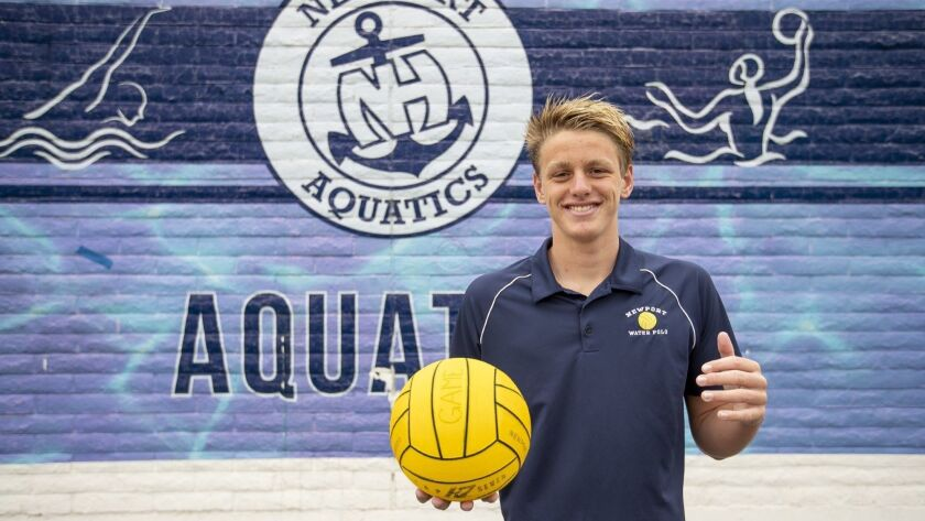 Newport Harbor High boys' water polo junior Tommy Kennedy is the Male Athlete of the Week. Photo tak