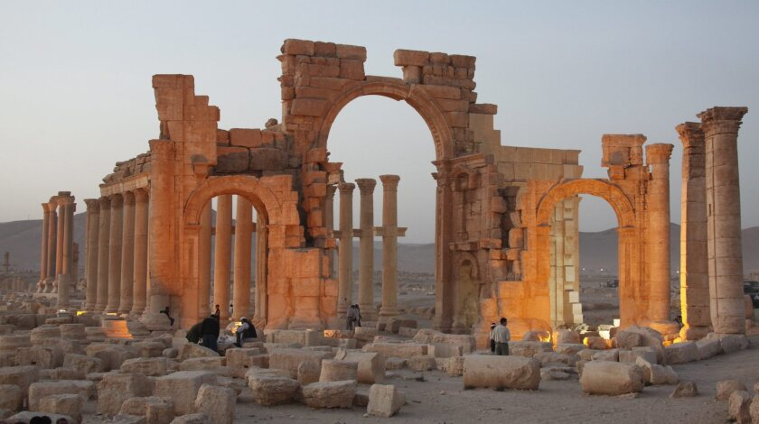 A 2010 file picture shows a general view of the ancient city of Palmyra in central Syria, where the temple of Baalshamin (not shown) was reportedly destroyed by Islamic State.