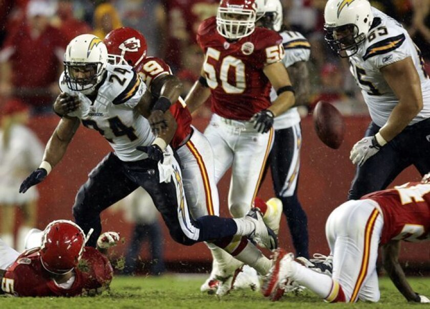 The Chiefs had to drive just 12 yards for a touchdown after recovering this Ryan Mathews fumble in the season opener.