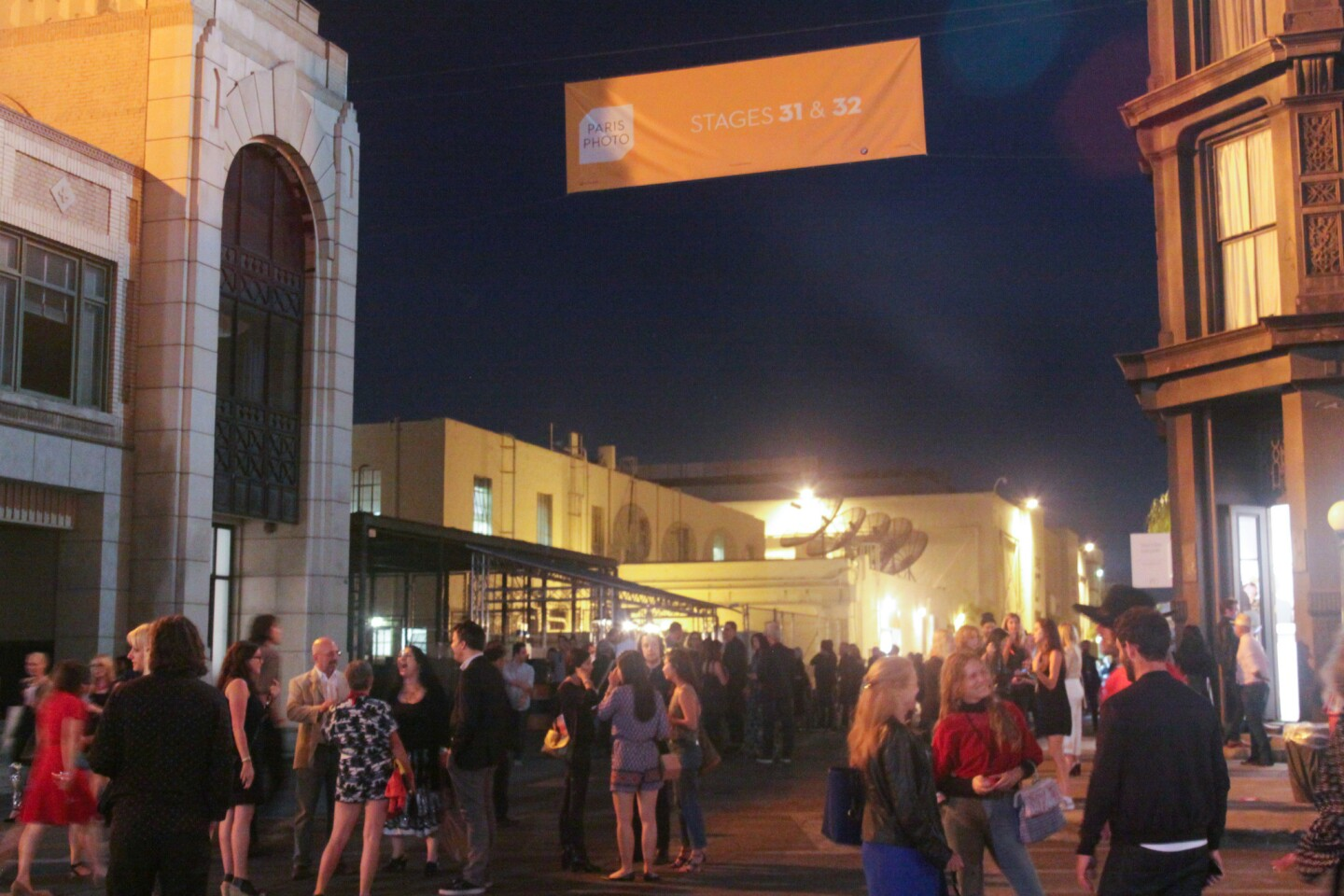 Paris Photo Los Angeles' opening night at the New York Street backlot at Paramount Pictures Studios.
