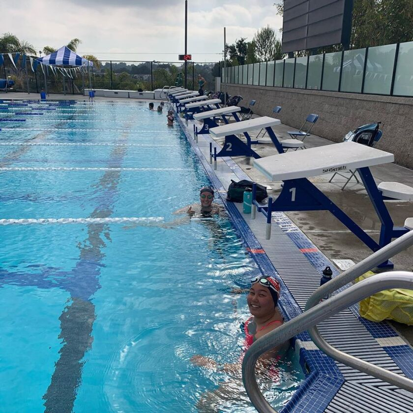 Rancho San Dieguito swimmers returned to the pool on June 12.
