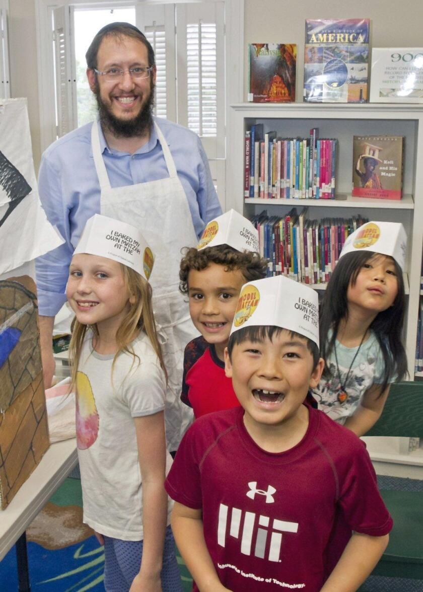 RSF Chabad Passover library hour and matzah bread craft led by Rabbi Levi Raskin
