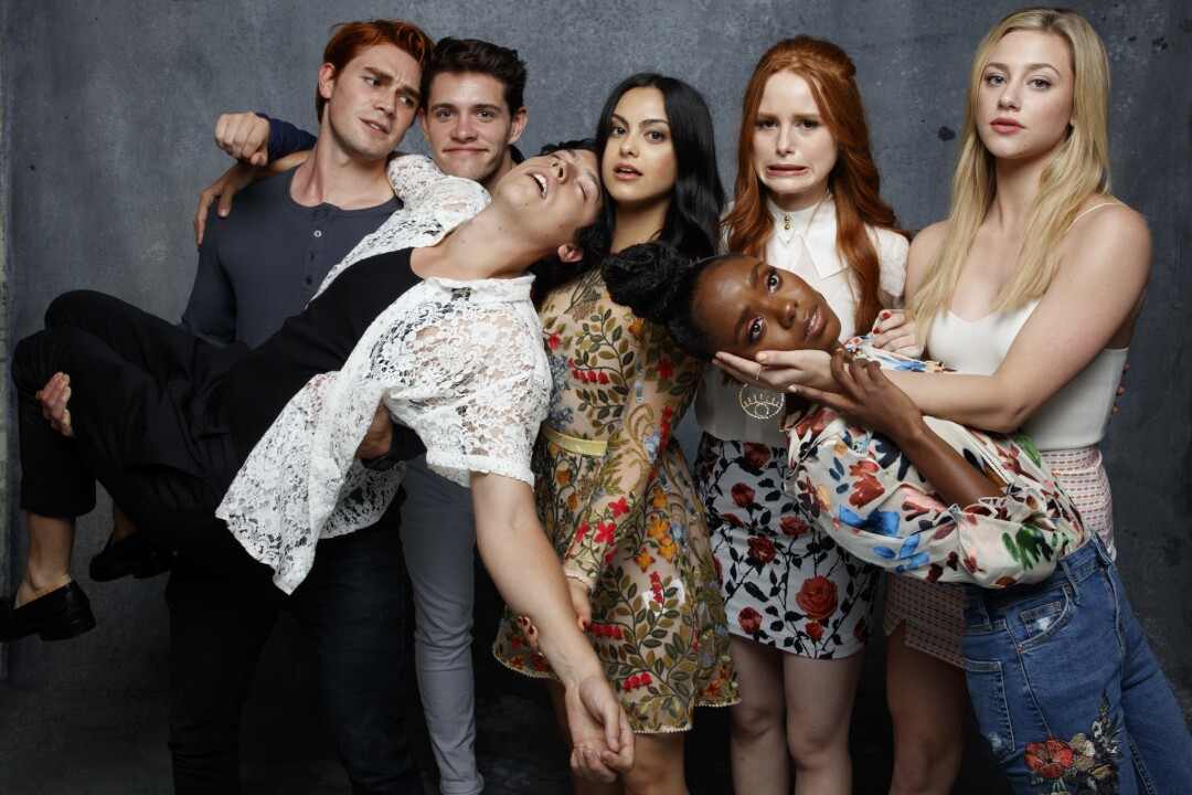 """The cast of """"Riverdale,"""" photographed in the L.A. Times photo studio at Comic-Con 2017"""