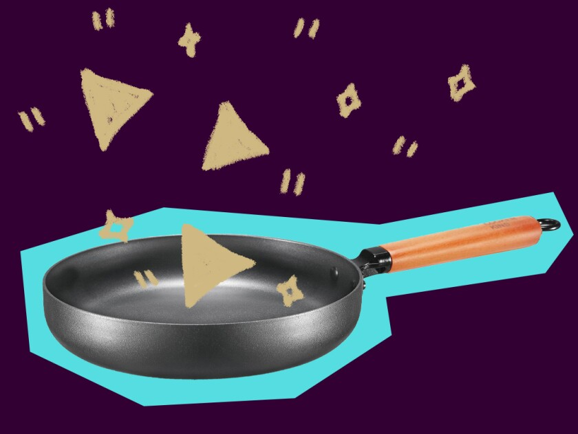 A photo illustration of a frying pan.