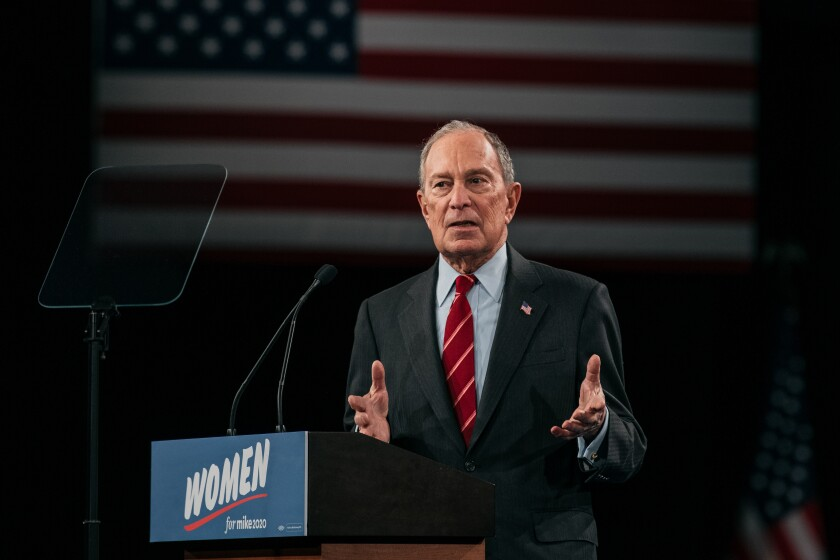 Mike Bloomberg rally