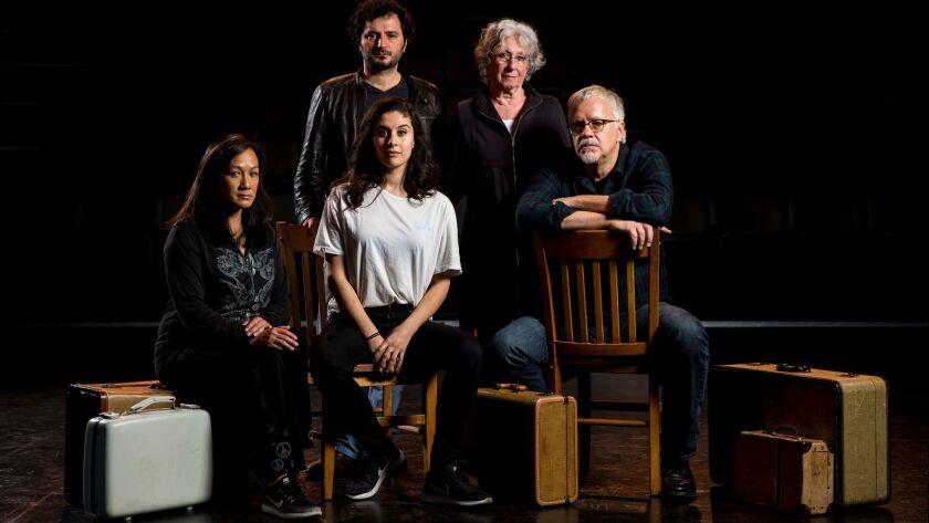 CULVER CITY, CA - JANUARY 27: Cast members Kayla Blake, Onur Alpsen, Paulette Zubata, Jeanette Horn